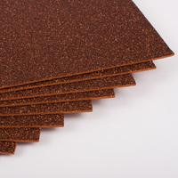 Фоамиран с глиттером 20х30 см 10 листов 2 мм коричневый (Арт. 7947) -Бумагия-
