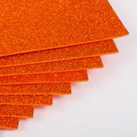 Фоамиран с глиттером 20х30 см 10 листов 2 мм оранжевый (Арт. 7940) -Бумагия-