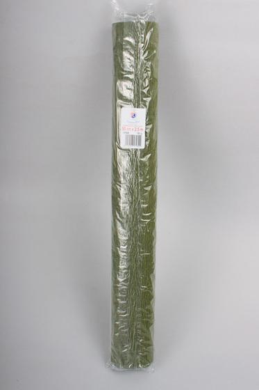 Креп-бумага (гофрированная) Италия №17А8 болотная -Бумагия-