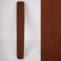 Креп-бумага (гофрированная) Италия №568 коричневый -Бумагия-