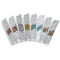 Закладки для книг картонные, 8 шт. в наборе BM-6180, Антистресс 2 -Бумагия-