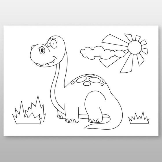 """Мега-раскраска """"Динозаврик"""" 60х84 см, краски в наборе -Бумагия-"""