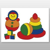 """Мега-раскраска """"Игрушки"""" 60х84 см, краски в наборе -Бумагия-"""