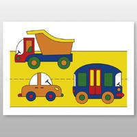 """Мега-раскраска """"Транспорт"""" 60х84 см, краски в наборе -Бумагия-"""