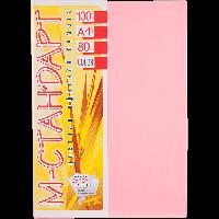 Бумага цветная А4 100 листов neon pink 342 розовый -Бумагия-