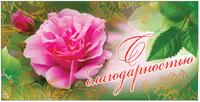 """Конверт для денег """"С благодарностью!"""" КН-П-1459 -Бумагия-"""