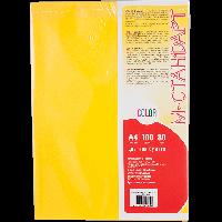 Бумага цветная А4 100 листов IG50 желтый интенсив -Бумагия-