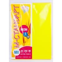 Бумага цветная MIX Neon А4 250(5х50) листов 80 г/м2