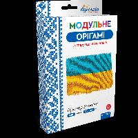 Оригами модульное «Флаг Украины» 888 модулей