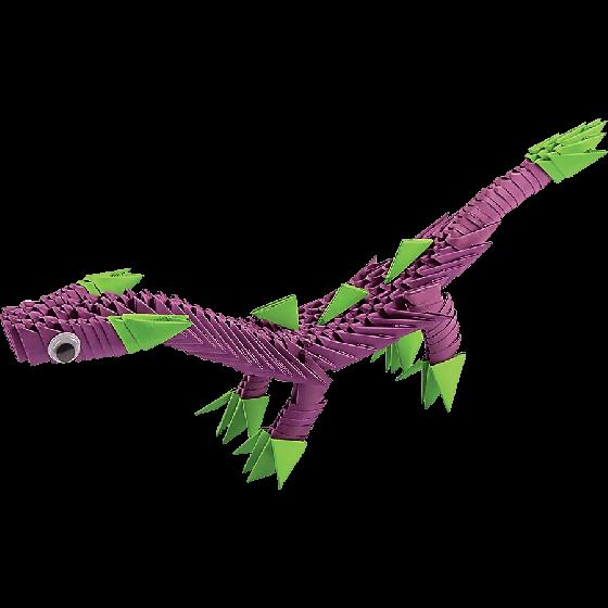 Модульное оригами «Динозаврик» 206 модулей -Бумагия-