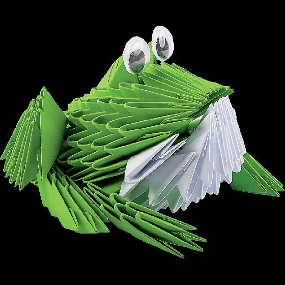 Оригами модульное «Лягушка» 228 модулей -Бумагия-