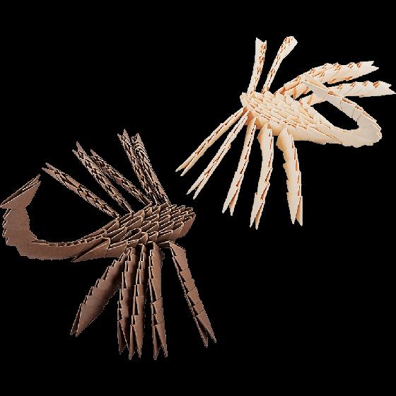 Модульное оригами «Два скорпиона» 248 модулей -Бумагия-