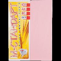 Бумага цветная А4 100 листов 170/PI25 розовый пастель