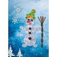 Объемный квиллинг «Снеговик»