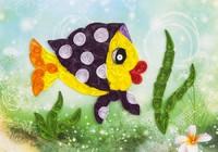 Объемный квиллинг «Рыбка в платочке» -Бумагия-
