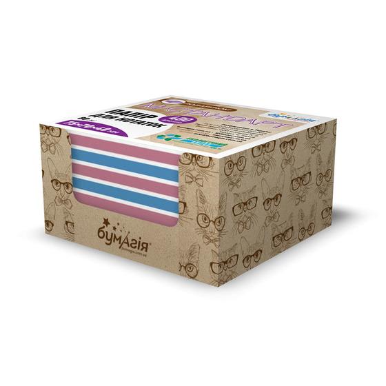 Блок бумаги для заметок в боксе 75 х 70 мм, 400 листов, цветная CQ-6623 «Стильные коты» -Бумагия-
